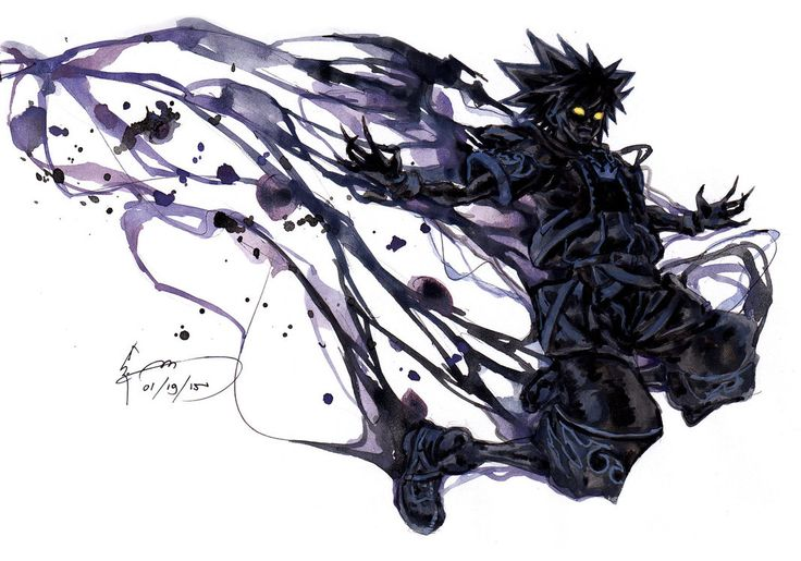 Kingdom Hearts 2 - Anti Sora Form by Nick-Ian on DeviantArt