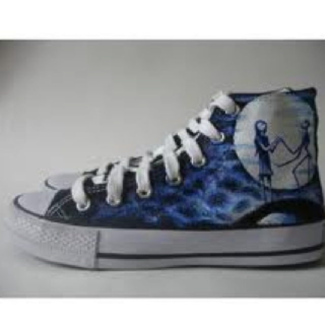 Nightmare Before Christmas Converse | Shoes | Pinterest
