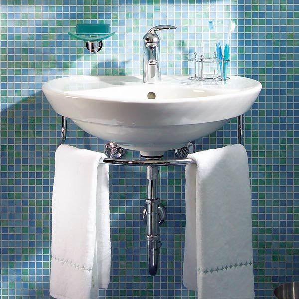 Top 25+ best Wall mounted sink ideas on Pinterest Shower recess - small bathroom sink ideas