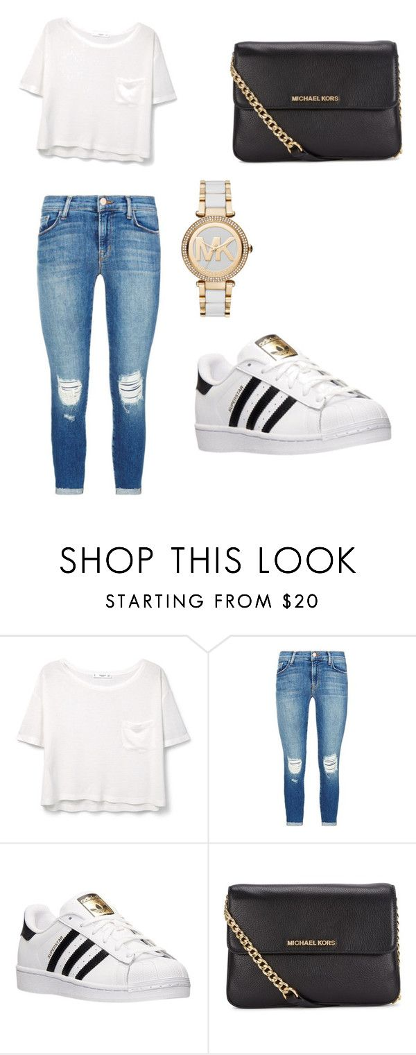 """School Outfit."" by patty52 ❤ liked on Polyvore featuring MANGO, J Brand, adidas and Michael Kors"