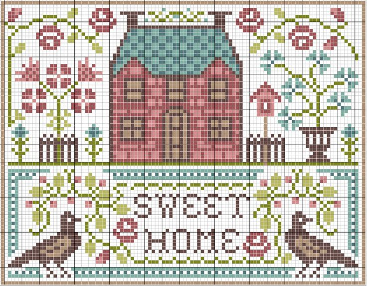Sweet Home - Cross Stitch Pattern