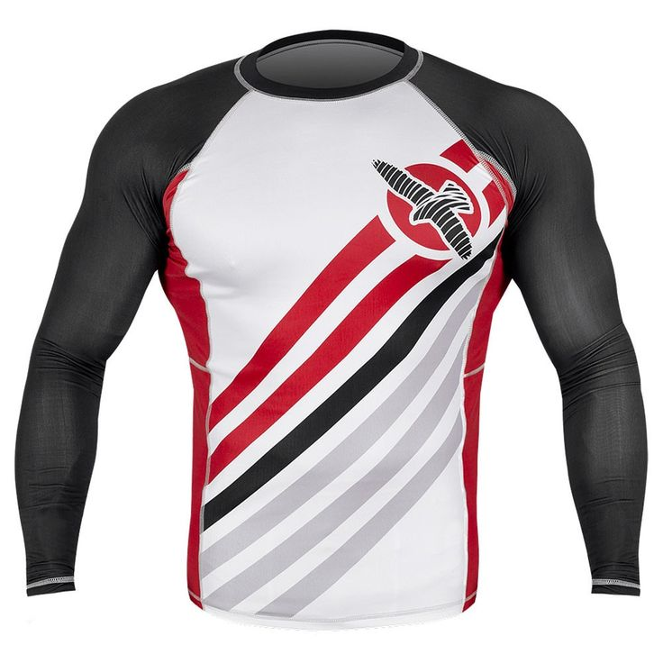 The Hayabusa Elevate Longsleeve Rashguard proves that not all rashguards are created equal. Train in the best with the best technical apparel! Optimized with Hayabusas high performance tensile fabric for ultimate comfort and flexibility Smooth stitch finishing to prevent chafing and fiber-fused graphics for uncompromised durability Maximizes protection against cuts, scrapes, and rashes Keeps your body dry and muscles warm, for maximum performance
