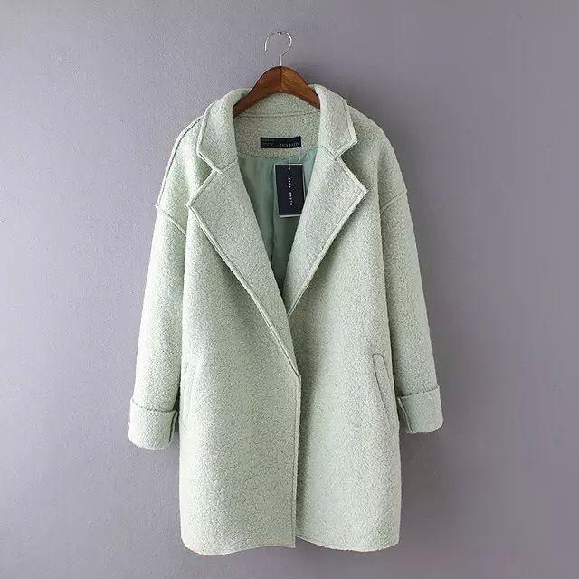 2016 женщин зимняя куртка пальто all матч конфеты Colro мода женщин шерстяное пальто с отложным пальто куртка женщин пиджаки sl купить на AliExpress
