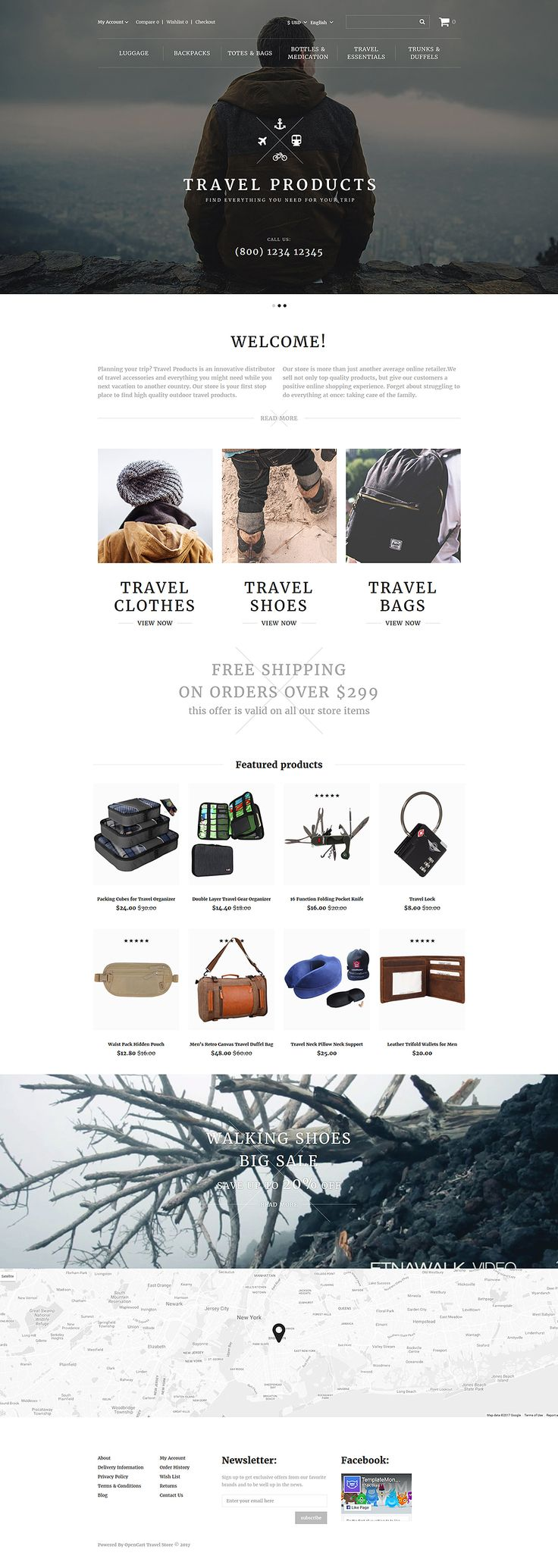 travel products online store opencart webtemplate themes business responsive template