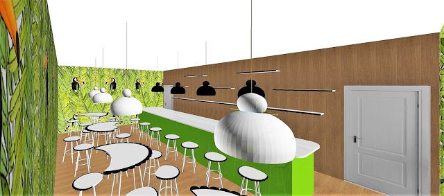 "ROMINDESIGN creations from my mind: ""SWEET ISLAND"" MINI CONCEPT BAR / CAFFE'…"