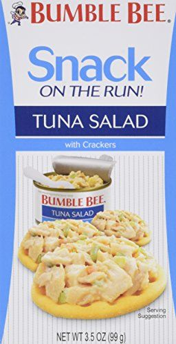 Bumble Bee Tuna Salad with Crackers and SpoonSnack on the Run and Ready to Eat 35ozpack of 3 ** Check this awesome product by going to the link at the image. (Note:Amazon affiliate link) #HealthySnacks