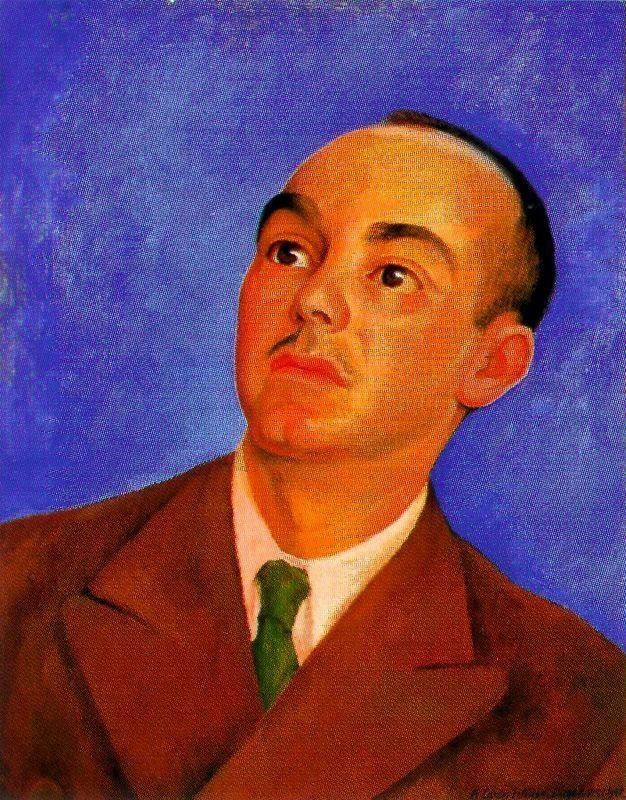 Portrait of Carlos Pellicer - Diego Rivera, 1942