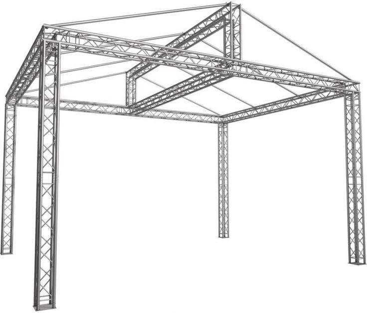 Giebeldach Traversen-Bühne 6,00 x 4,00  x 4,71 m (BxLxH)
