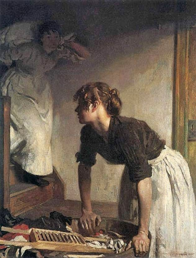 The Wash House (Sir William Orpen, 1878-1931 R.A., R.H.A. - )