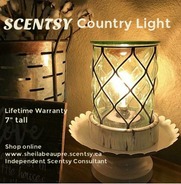 Thick glass, antiqued window pane accents and a weathered wood base give Country Light a distinct bohemian vibe. SCENTSY WARMER LIFETIME WARRANTY