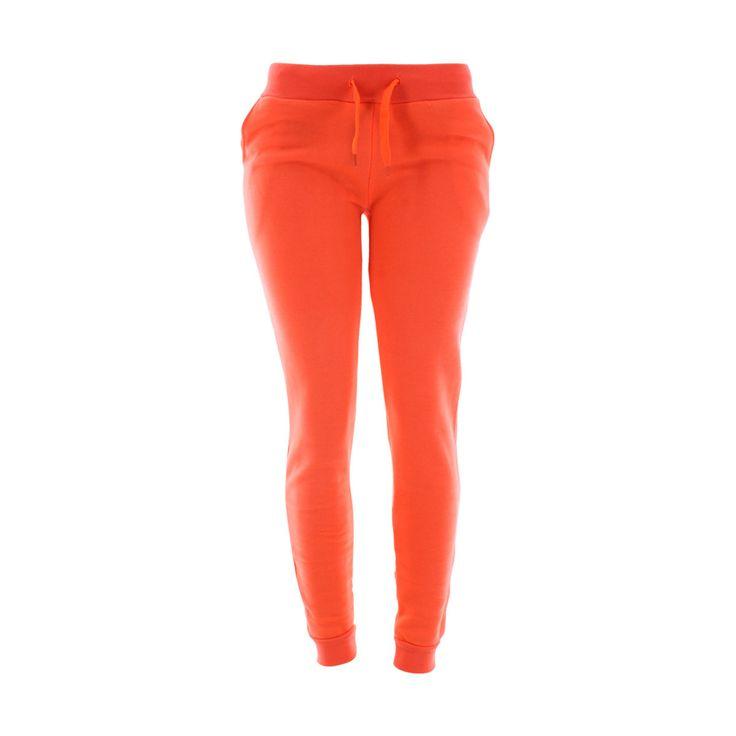 True Rock - Women's Basic Fleece Jogger - Bright Orange