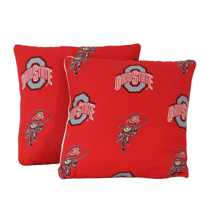 College Covers NCAA Ohio State Decorative Cotton Throw Pillow
