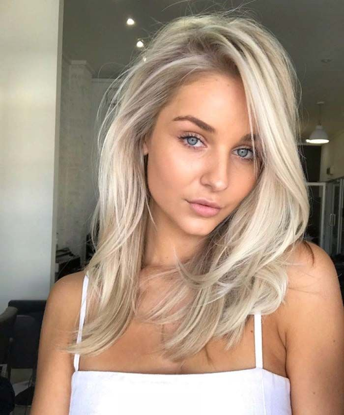 Fresh Blonde Silver Ombre Hair Colors 2019 Hair Lengths