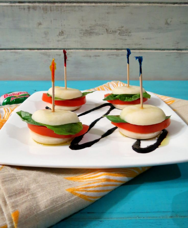 Mini Cheesy Caprese Sandwich - A cheesy, Italian style appetizer made ...