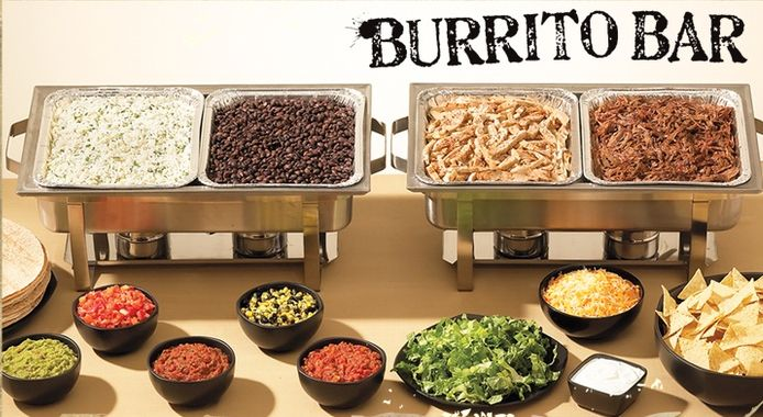 Mexican buffet catering station