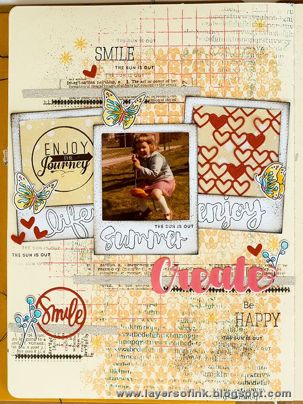 Layers of ink - Create Art Journal tutorial by Anna-Karin. Made with Simon Says Stamp exclusive rubber stamps and dies, for the My Favorite release blog hop.