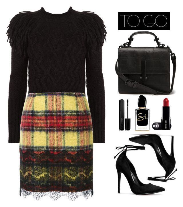"""""""Untitled #614"""" by jovana-p-com ❤ liked on Polyvore featuring Giorgio Armani, Temperley London, Guild Prime and Marc Jacobs"""