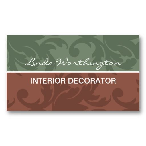 Interior decorating business cards for Interior designers business cards