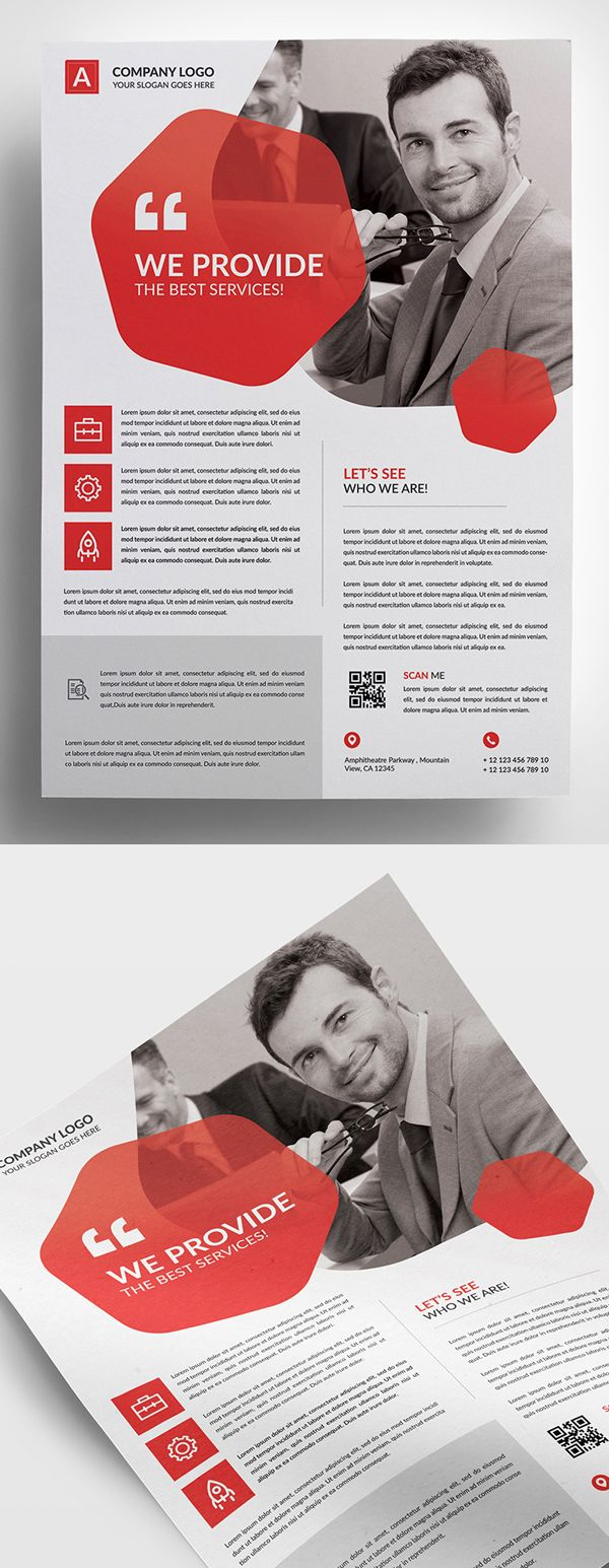 25 plantillas de folletos corporativos creativos   – FLYER BUSINESS