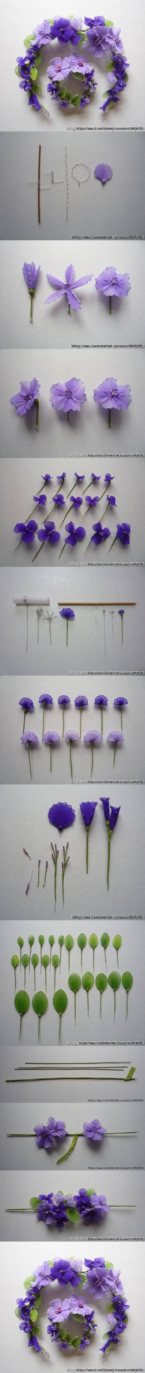 DIY Wire Nylon Flowers DIY Projects | UsefulDIY.com Follow Us on Facebook ==> http://www.facebook.com/UsefulDiy