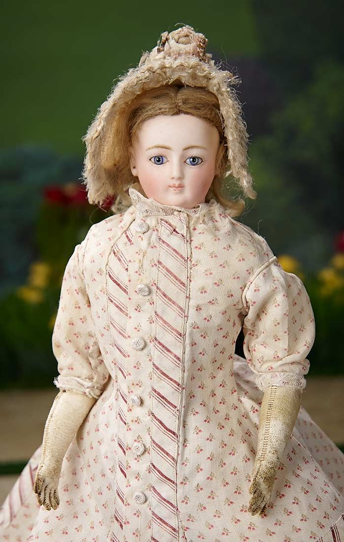 """""""I Only Wanted to Wonder"""" - August 1, 2017: 351 Petite French Bisque Poupee Attributed to Doleac in Lovely Costume"""