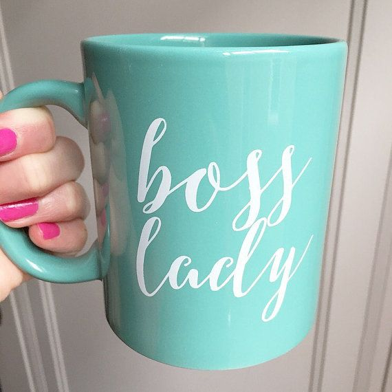 Mint Boss Lady Coffee Mug Coffee Mugs Boss Lady by sweetwaterdecor                                                                                                                                                      More