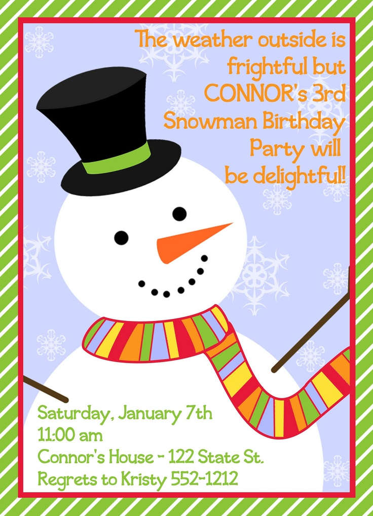 snowman birthday party - Google Search