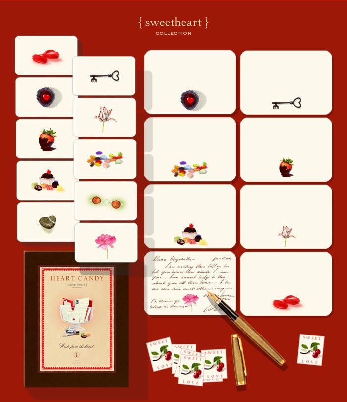 "I Heart ""Heart Candy"" Stationary from Felix Doolittle"