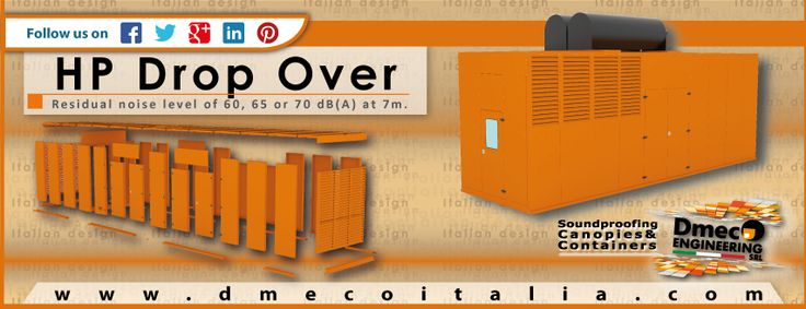 Dmeco Engineering - Hp Drop Over Series  // www.dmecoitalia.com //  #dmeco #dmecoengineering  #engineering #soundproofing  #container  #canopy  #generator  #genset  #rental  #products #italiandesign  #italianconcept  #italianproducts  #madeinitaly  #InTheWorld