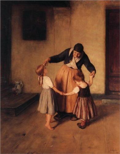 Grandma and Children, 1883  - Nikolaos Gyzis