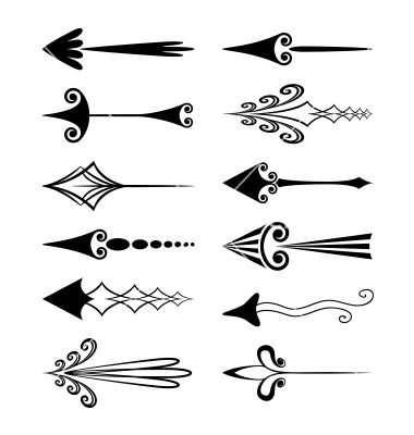 Vintage arrows vector one would make a cute tattoo. Maybe more feminine for my girls & masculine lines for my boys? With a Psalm 127. Foot?