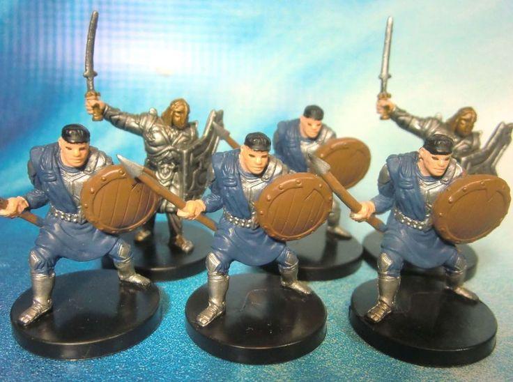 Dungeons & Dragons Miniatures Lot  Caravan Guard Mercenary Sergeant !!  s100 #WOTC