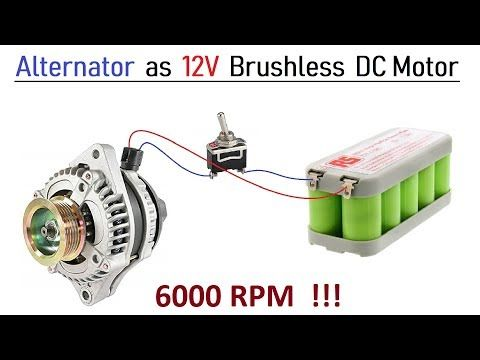 12v 100 Amps Car Alternator Converted To Brushless Dc Motor High Speed With Bldc Controller Youtube In 2020 Alternator Car Alternator Motor