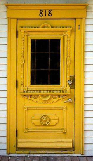 I feel one Dokkaebi (???)will pass through that door at any moment! Detailed yellow door in Mont-Tremblant Quebec Canada. & Best 25+ Yellow doors ideas on Pinterest | Doors Mustard yellow ... pezcame.com