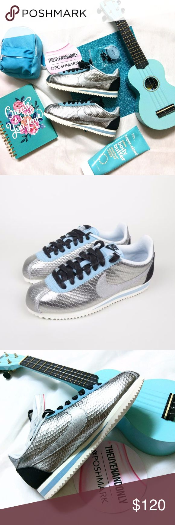 💠RARE💠 NEW Nike Cortez Classic Leather Metallic 💠NEW WITHOUT BOX - 100% Authentic  💠NO TRADE  💠Accept Reasonable Offer ONLY 💠SHOES ONLY. Other accessories in the cover pic are not included. Price firm during sale 💠RUDE, ADVERTISE, MEAN, PRICE COMPLAINT COMMENTS will be reported. 💠*Please note: Colors might appear a bit darker OR lighter due to differences in phone/computer monitor. Nike Shoes Sneakers