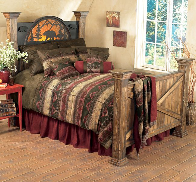 53 Best Images About Rustic Cabin Bed Frames Bedding On