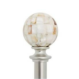 Curtain Rods W Mother Of Pearl Finials Bathroom Window