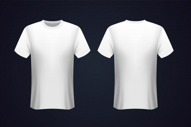Front And Back White T Shirt Mockup In 2020 Shirt Mockup