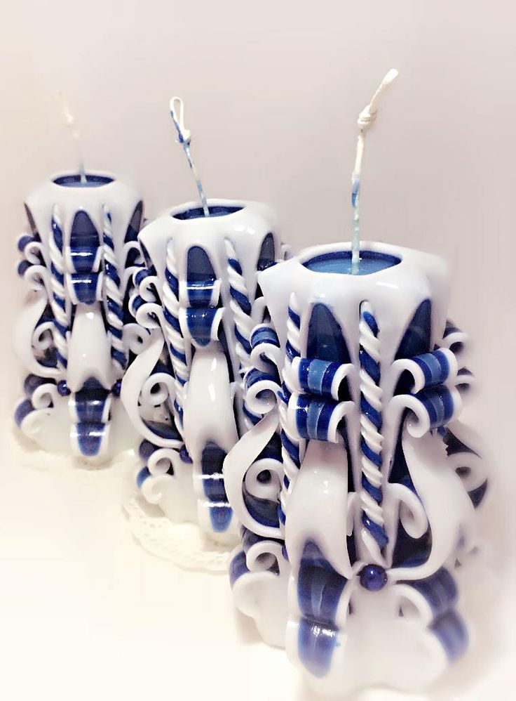 Excited to share the latest addition to my #etsy shop: White blue candle-Carved candles-gift-handmade candle-home decor-interior decoration-Gift ideas-unique candle-decorative romantic candle