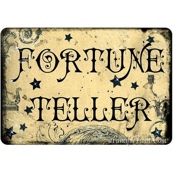 Fortune Teller Cards 5 Postcard Set by AFancifulTwist on Etsy, $6.50