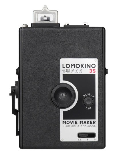 """LomoKino  """"A hand-cranked movie camera that turns a 36-exposure roll of 35mm film into 144 frames of old-timey cinematic magic.""""    LomoKino, $79"""