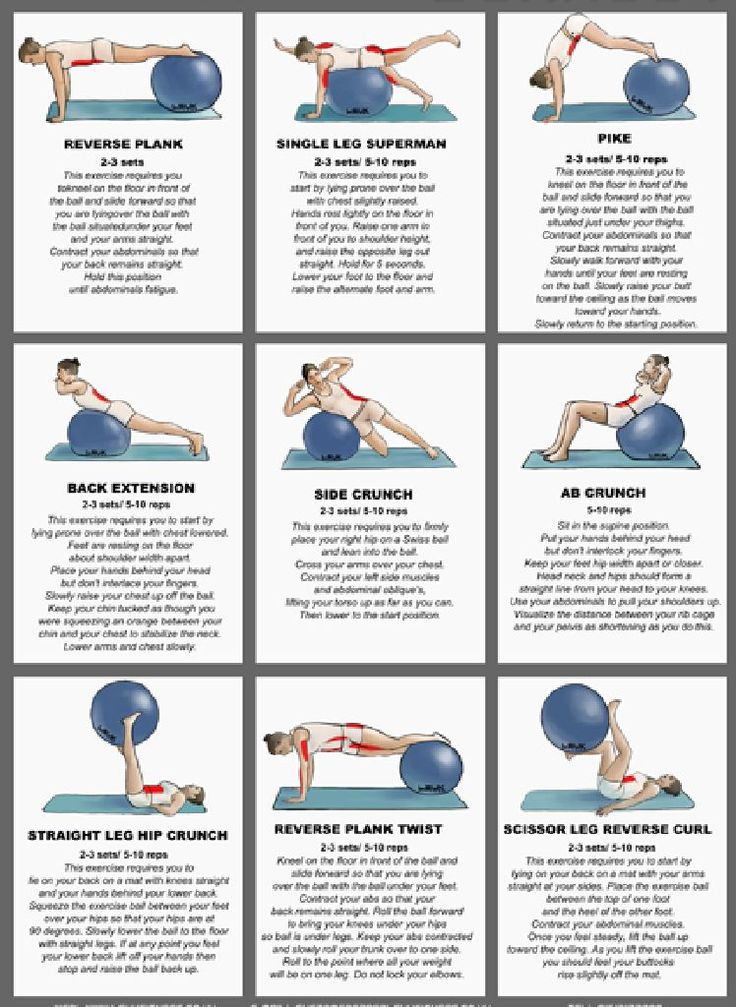 Stability ball exercises 1