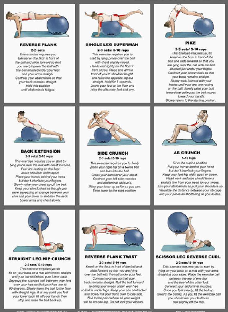 ¡Más #ejercicios de #core con #fitball!
