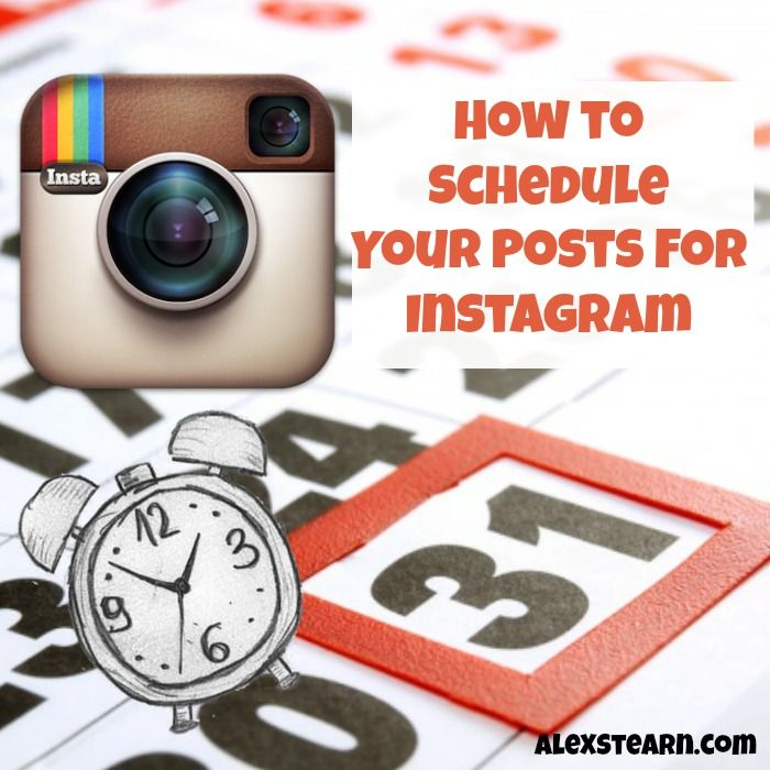 How to Schedule your Posts for Instagram http://www.alexstearn.com/?utm_content=bufferdbce7&utm_medium=social&utm_source=pinterest.com&utm_campaign=buffer#!How-to-Schedule-your-Posts-for-Instagram/c218b/561f96e10cf2c3576e5f4310