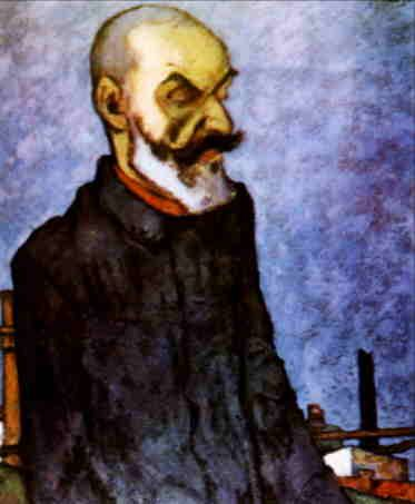 The Man of a New World, portrait of Gala Galaction (1920), Nicolae Tonitza