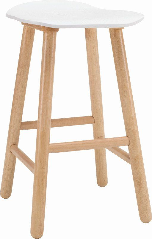 Quot Heidi Quot Gloss White Kitchen Counter Stool With Solid Oak
