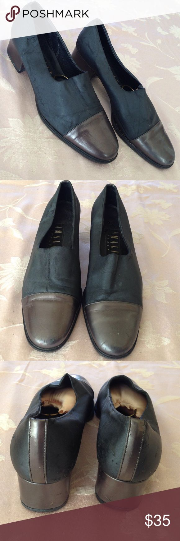 Amalfi Italian Apillow slip on shoes Size 6B heeled slip on shoes. Genuine leather. Some wear and tear. Amalfi Shoes Flats & Loafers
