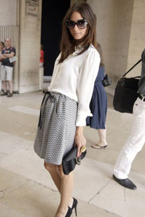 Armani silk white blouse and drawstring high-waisted shorts
