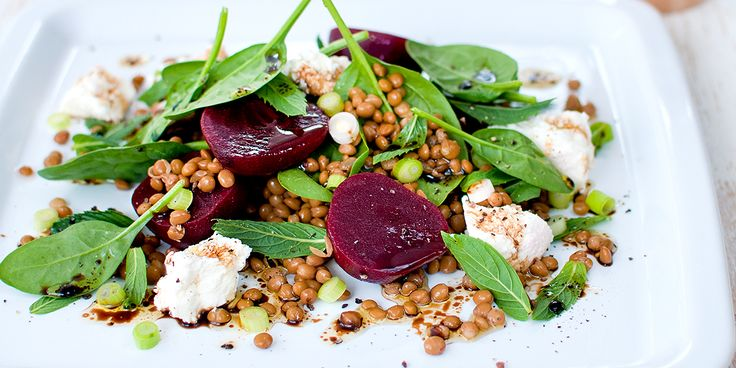 Free Recipe: Lentil and Beetroot Salad with Creamy Ricotta