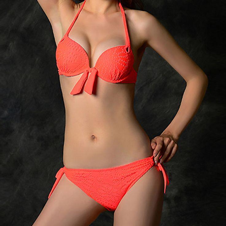Sexy Women's Fashion Bikini Push-up Padded Bra Swimsuit 10 * Visit the image link more details.